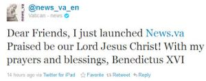 Pope twitter, pope social media