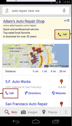 Call Button on a Mobile Website